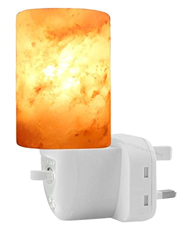 Himalayan Salt Rock Lamp Plug In Night Light Air Purifier Switchable Natural Crystal Mood Light Hand Crafted