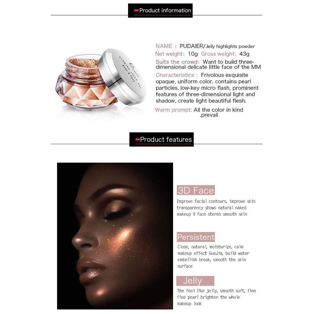 Beauty & Health Face Gel Waterproof Beginner Beauty Tools High Light Featured Highlights Jelly Powder Mermaid Eye Shadow Cream Body