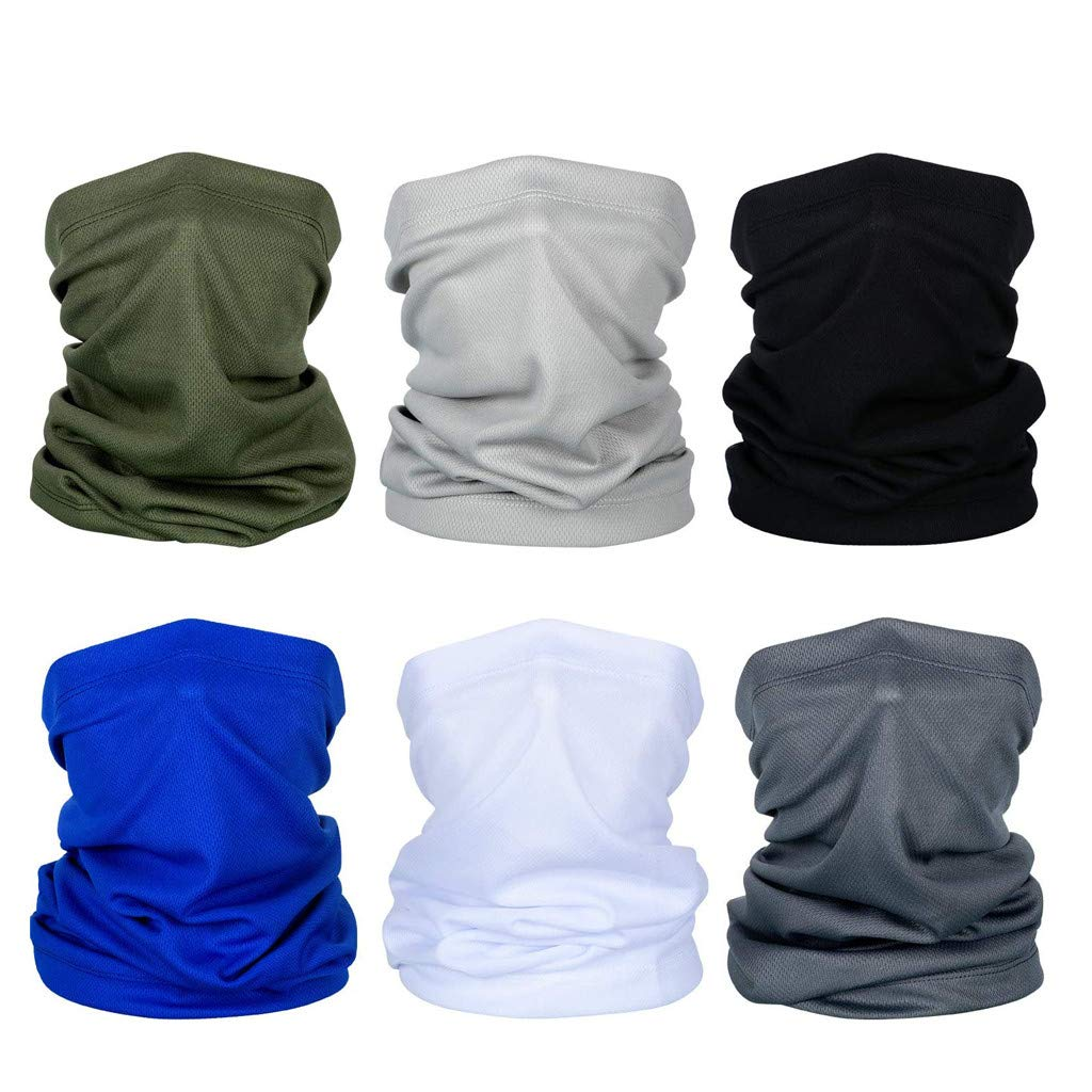 Breathable Fishing Hiking Running Cycling 6pcs Neck Gaiter Face Scarf Scarf-Dust Balaclava Headbands Sun Protection Cool Lightweight Windproof