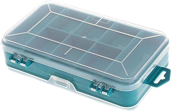 Organizador de cuentas de plástico de doble cara para clavos de tornillo, caja de almacenamiento, verde: Amazon.es: Bricolaje y herramientas
