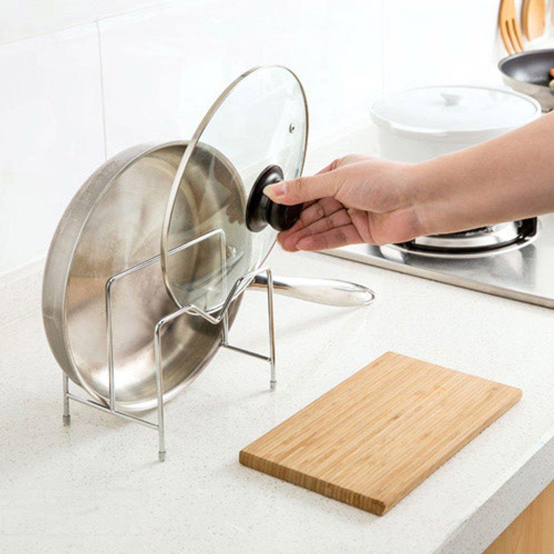Amazon.com: eDealMax de Metal cubierta de placa de cocina Tabla de cortar de almacenamiento del Marco del estante del sostenedor del organizador del tono de ...