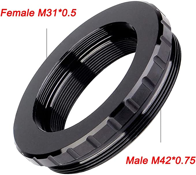 Astromania M31X0.5 Female Thread to M42X0.75 Male Thread Adapter