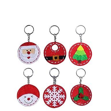 Amazon.com: 6 llaveros de Navidad, llavero, llavero, llavero ...