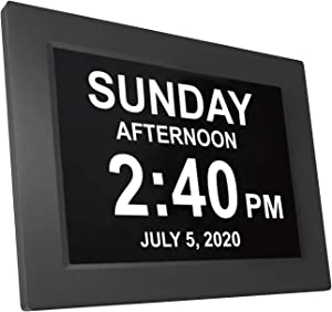 American Lifetime Newest Version Day Clock Extra Large Impaired Vision Digital Clock with Battery Backup and 5 Alarm Options