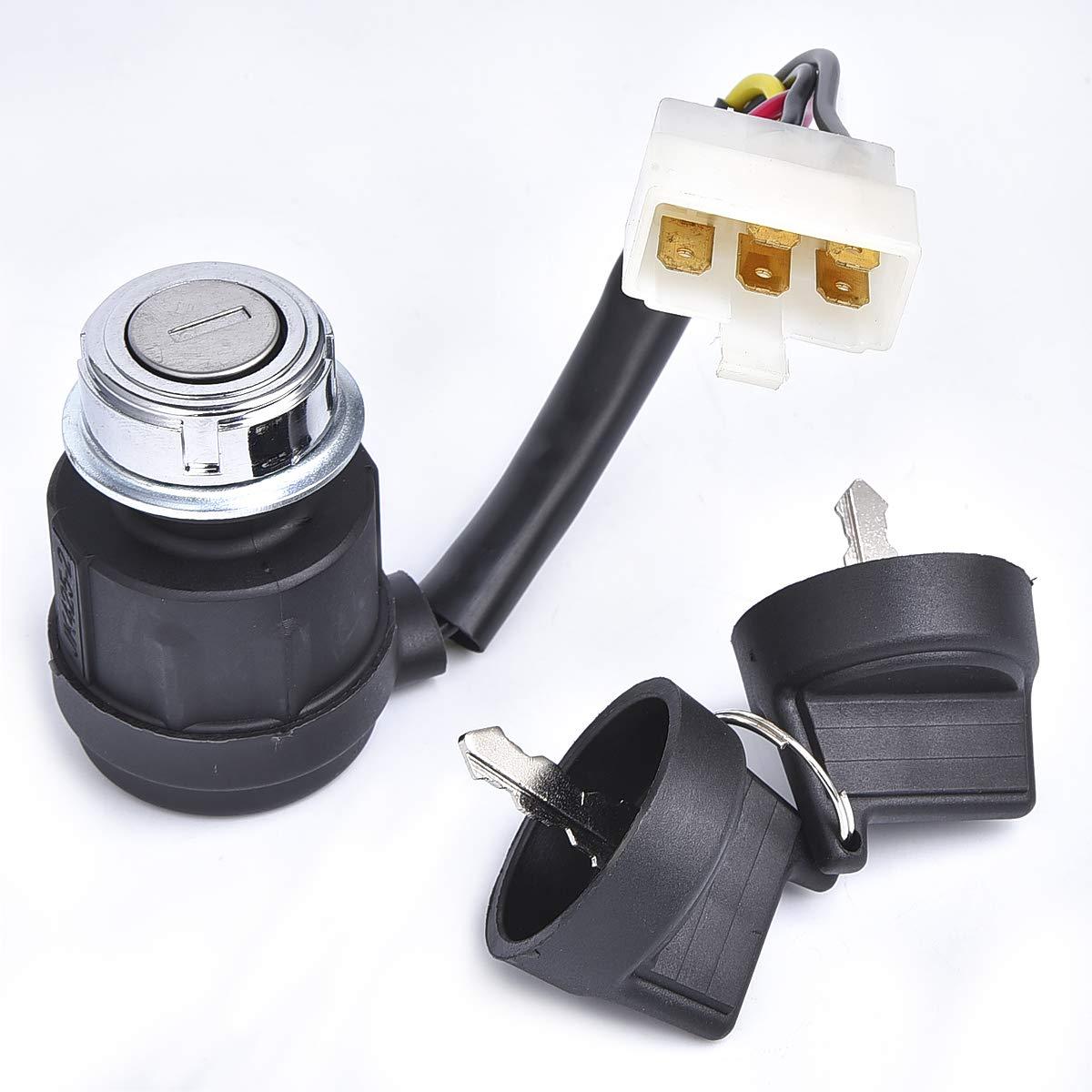 5 Wire Ignition Key Switch Dual Keys for Diesel Generator ATV Halley