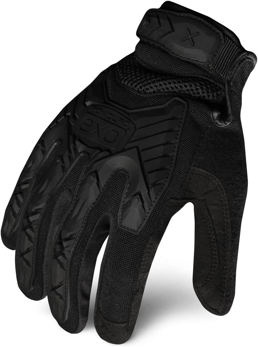 Ironclad EXOT-IBLK-02-S Tactical Operator Impact Glove, Stealth Black, Small