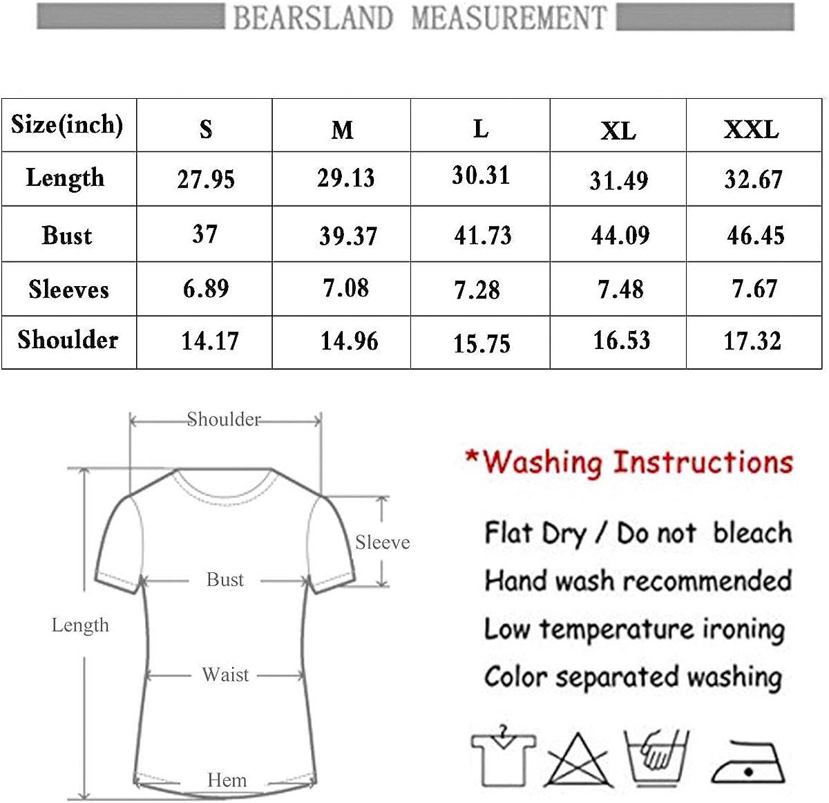 Bearsland Womens V Neck Short Sleeve Nursing Tops Maternity Breastfeeding Tee Shirts