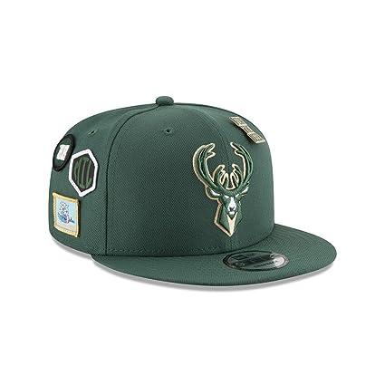 wholesale dealer 54d70 343c9 ... snapback cap lids 5619e 448f3  closeout image unavailable. image not  available for. color new era milwaukee bucks 2018 nba