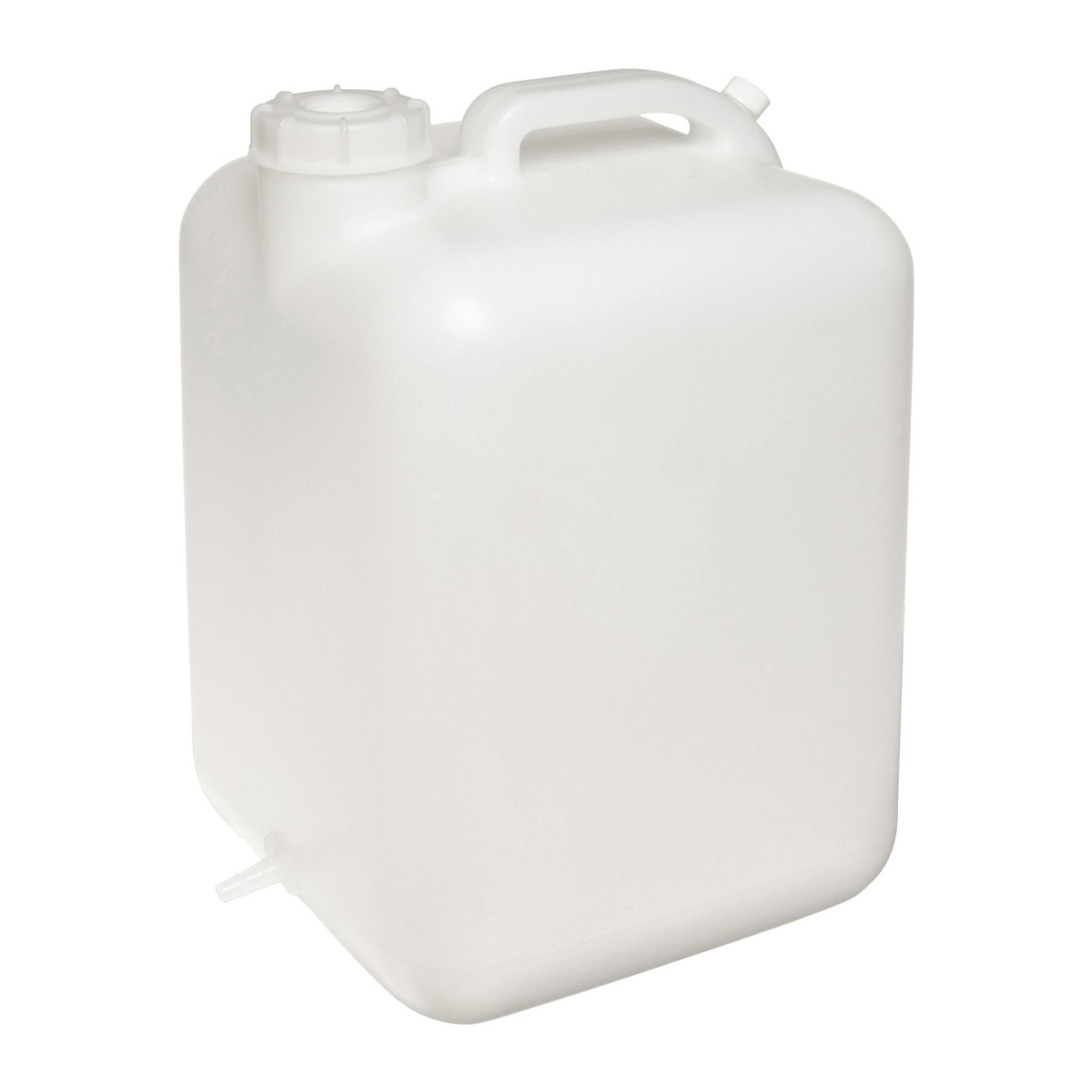 Dynalon 105665 HDPE 5 gallon Hedwin Style Square Lab Carboy, with Tubing and Clamp