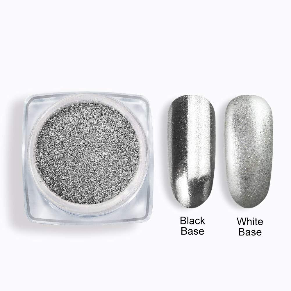 Saint-Acior 1 Color Pigmento del Brillo del Clavo Uñas Glitter Brillo Espejo Glitter Brillo Espejo Manicura