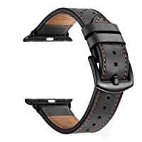 Zeiger 38mm 42mm Genuine Leather Watch Strap for Apple Watch