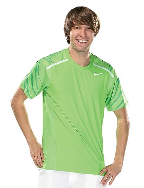 Nike - Camiseta de pádel para Hombre, tamaño M, Color Action Verde/Blanco