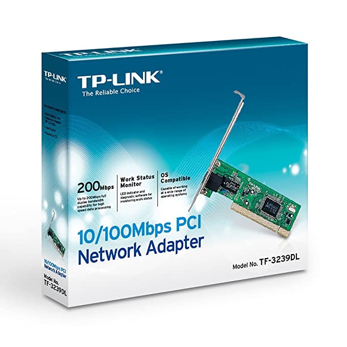 TP-LINK 10/100Mbps PCI Network Adapter Interno Ethernet 100Mbit/s adaptador y tarjeta de red - Accesorio de red (Alámbrico, PCI, Ethernet, 100 Mbit/s, ...