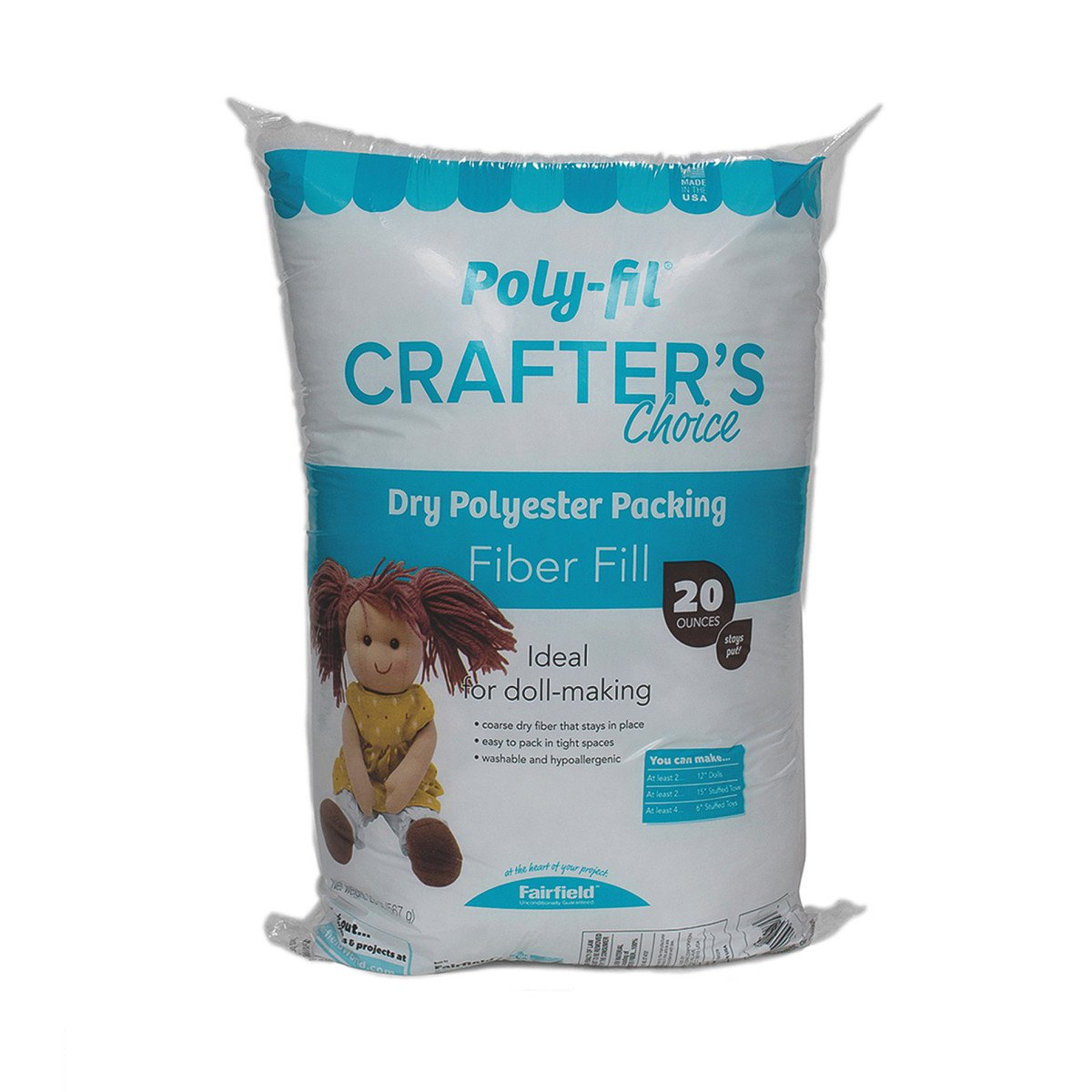 Fairfield Crafter's Choice poliestere Fiberfill-20 oz, altri Notions Marketing 488945