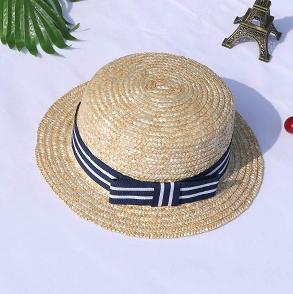 Amaone Baby Hats Newborn Girls Boy for 1-4Years Old Summer Beach Straw Infant Brim Sun Hats Toddlers Caps Unisex Headwear
