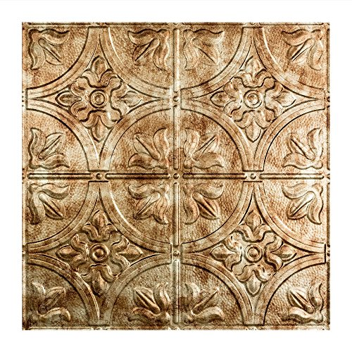 Fasade Easy Installation Traditional 2 Bermuda Bronze Lay In Ceiling Tile / Ceiling Panel (2' x 2' Tile) ()