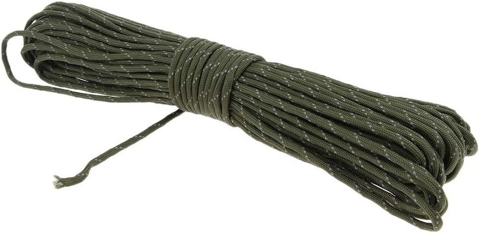 Baoblaze 4mm Paracord Abspannseile Reflektierende Spannschnur Zeltleine Zeltseil Spannseil f/ür Outdoor-Zelt