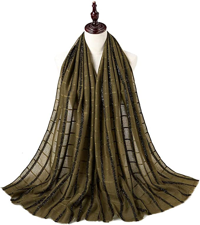 ZOMUSAR 10 Colours Women Solid Fashion Cotton Long Scarf Muslim Hijab Wrap Shawl Headwear