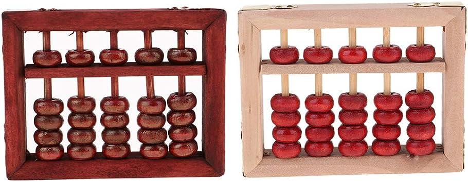 Giapponese Abacus Soroban Calcolatrice 2 Pz 5 Cifre Canne Abaco di Legno per Adulti Bambini Bambino Scuola Materna Matematica Apprendimento Fornitur