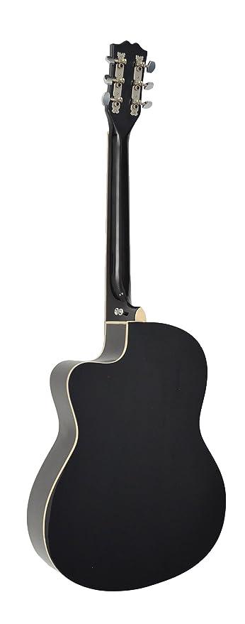 ts-ideen Western - Guitarra acústica, calidad estándar, tamaño regular (4/4), color negro: Amazon.es: Instrumentos musicales