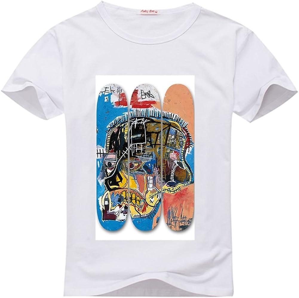 Basquiat Skate Deck camisa de camiseta de cuello redondo para ...