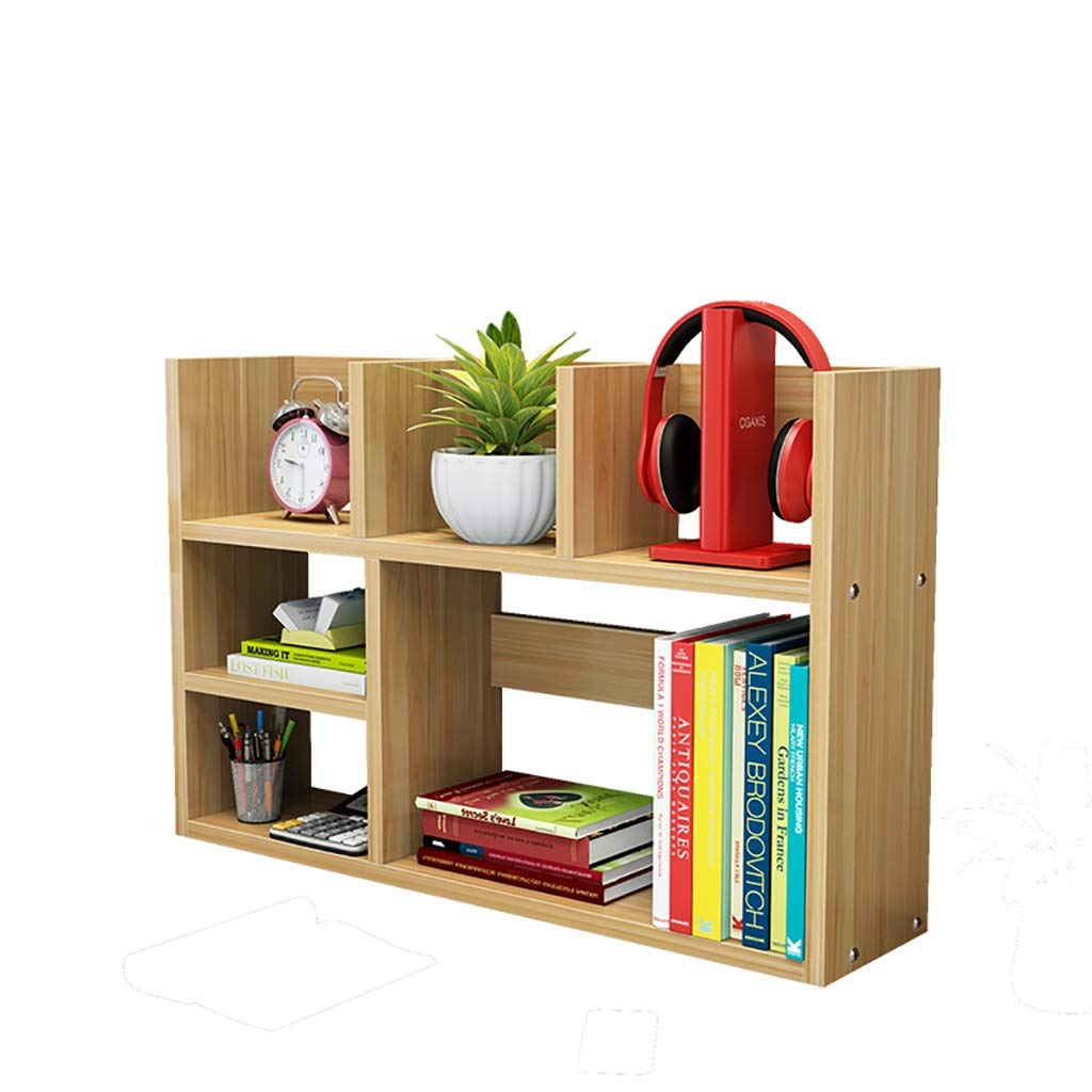 A 802050cm Desktop Bookshelf Storage Shelf Student Office Desk Small Bookshelf Dormitory Bookcase (color   B, Size   80  20  50cm)