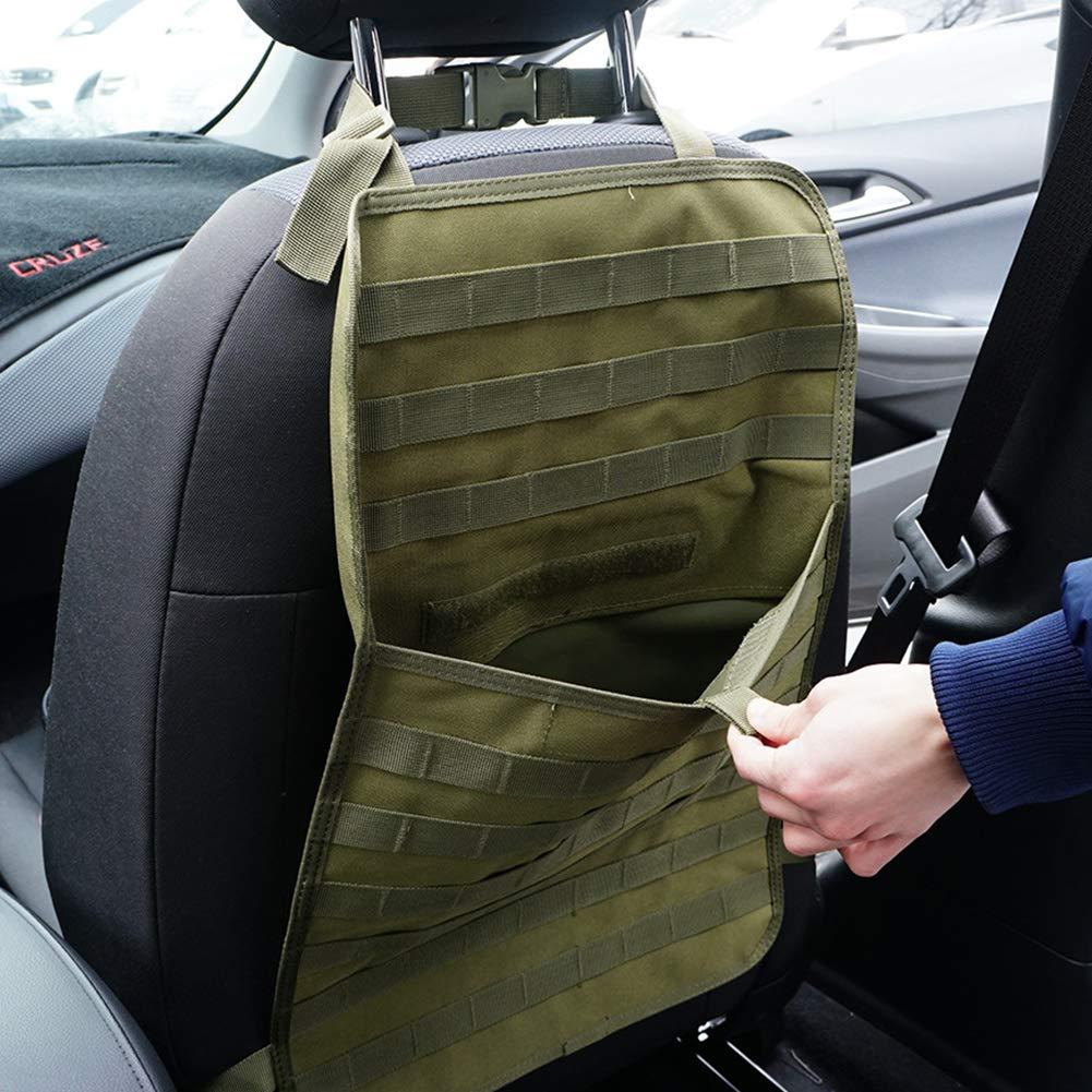 Taglia Libera CLIUS Organizer tattico per Sedile Auto per Accessori da Esterni Nero