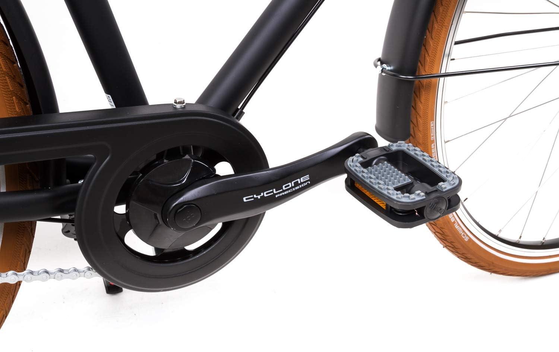 28 Zoll Alu Urban Fahrrad Herren City Bike Shimano 3 Gang Nexus schwarz Rh52cm