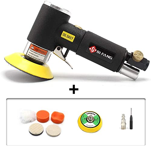 2inch 3inch Mini Air Sander Mini Orbital Air Sander Air Dual Action Sander Air Polisher Kit for Auto Body Work Black 2 3 air sander