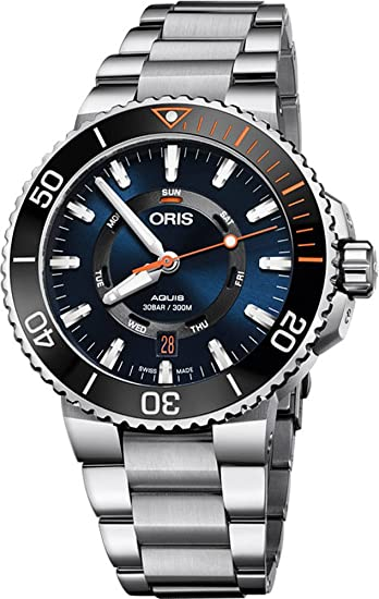 Oris Aquis Fecha staghorn restauración edición limitada para hombre acero inoxidable reloj de buzo Automático –