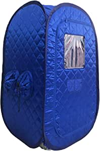 ZONEMEL Portable Steam Sauna, Lightweight Folding Tent, Personal Steam Sauna SPA for Weight Loss Detox Therapy, Steamer NOT Included (Blue)