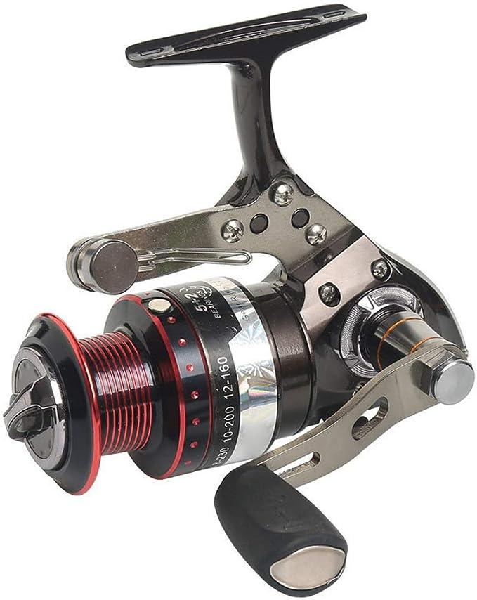 QHFISHER Equipo de Pesca 5 + 2BB Spinning Carrete de Pesca Rueda ...