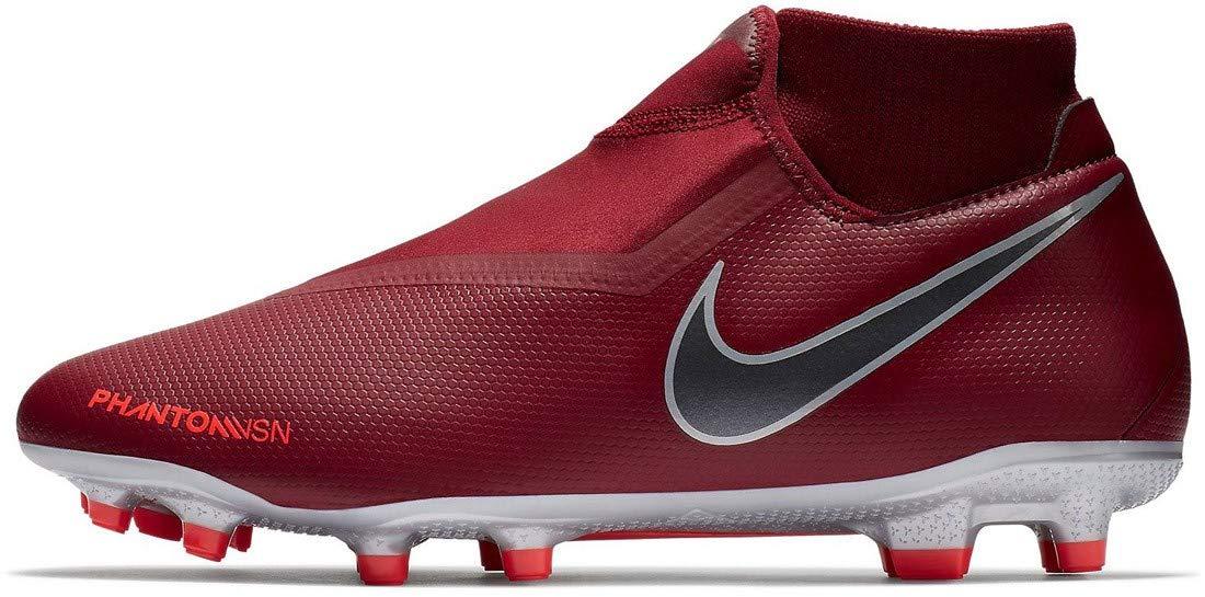 Nike Hypervenom Phantom Vision Academy DF MG Soccer Cleat (Team Red) (Men's 9.5/Women's 11)