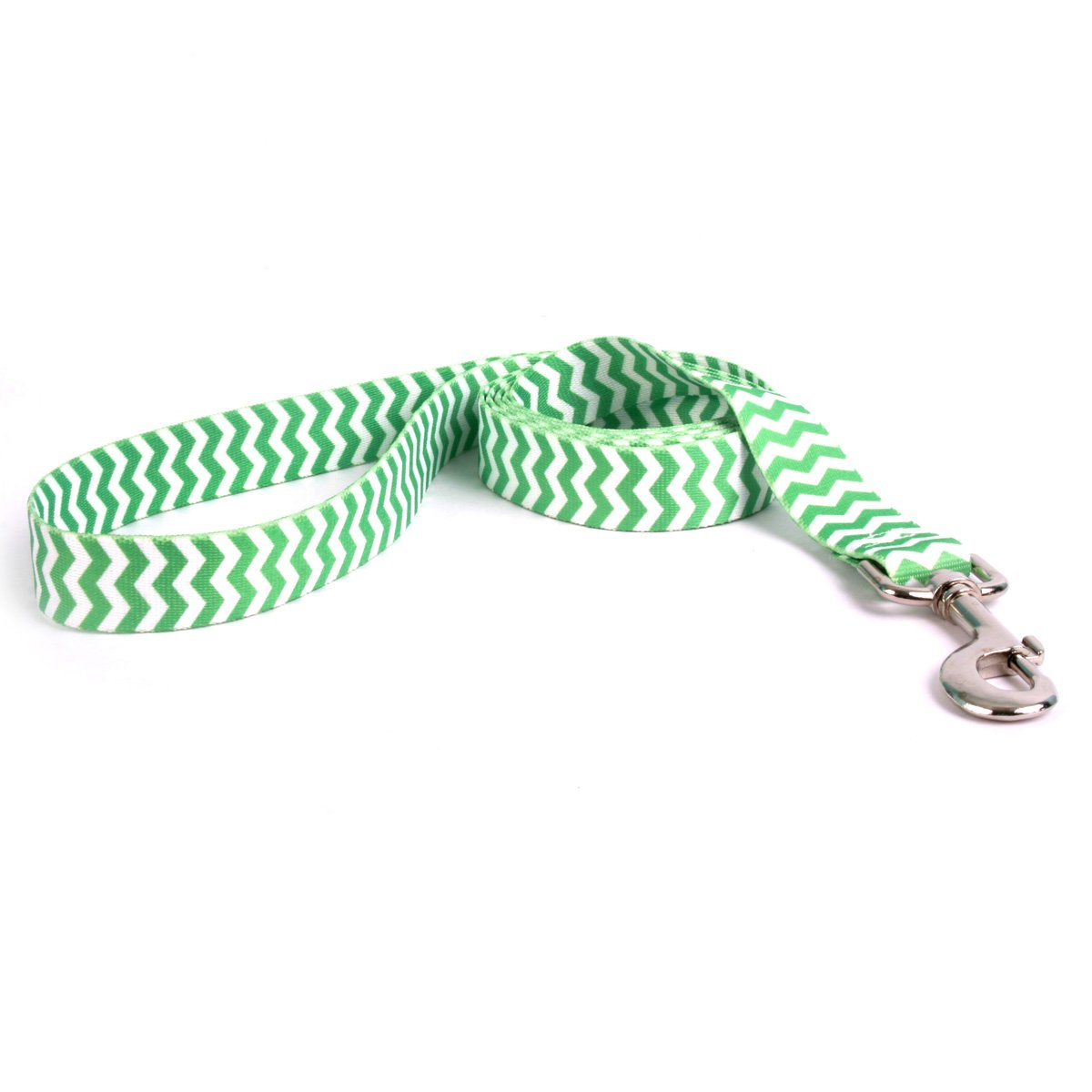 Yellow Dog Design Chevron-Lime Dog Leash 1'' Wide and 5' (60'') Long, Large