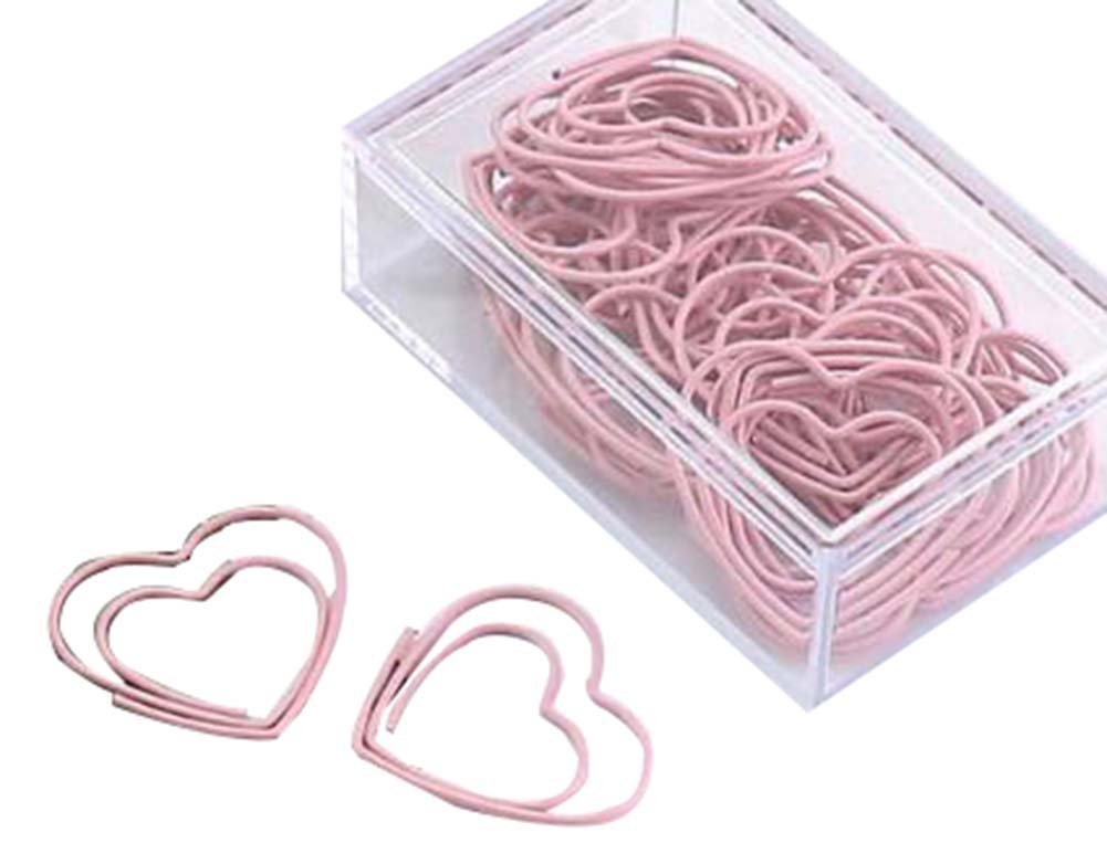 30 Pieces Cute Paper Clips Creative Paper Clip, Love Heart