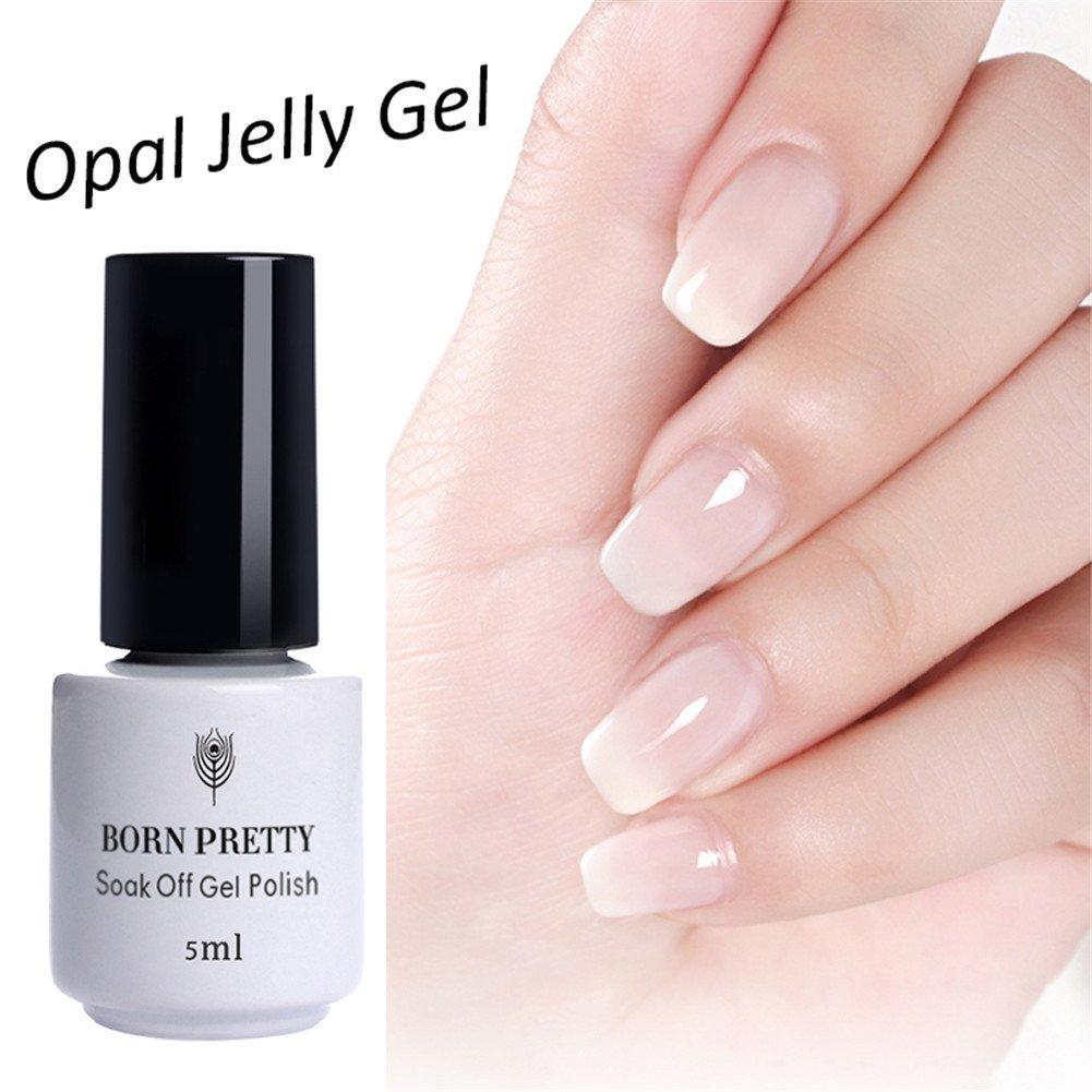 Born Pretty 5ml Nail Art Opal Jelly Gel Polish White UV LED Soak Off ...