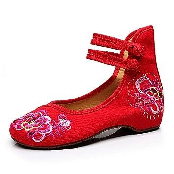 rêve Rouges Ethnique brodées Chaussures Chaussures de Style Attrape R4dnwqR
