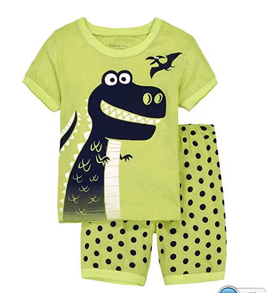 """Babygp dos conjuntos de pijama de """"mayor de los dinosaurios"""" para los niños"""
