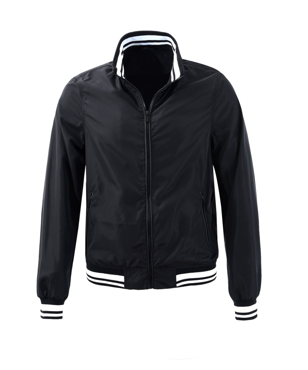 M2C Teen Boys Stand Collar Letterman Varisty Baseball Bomber Jacket Medium Black