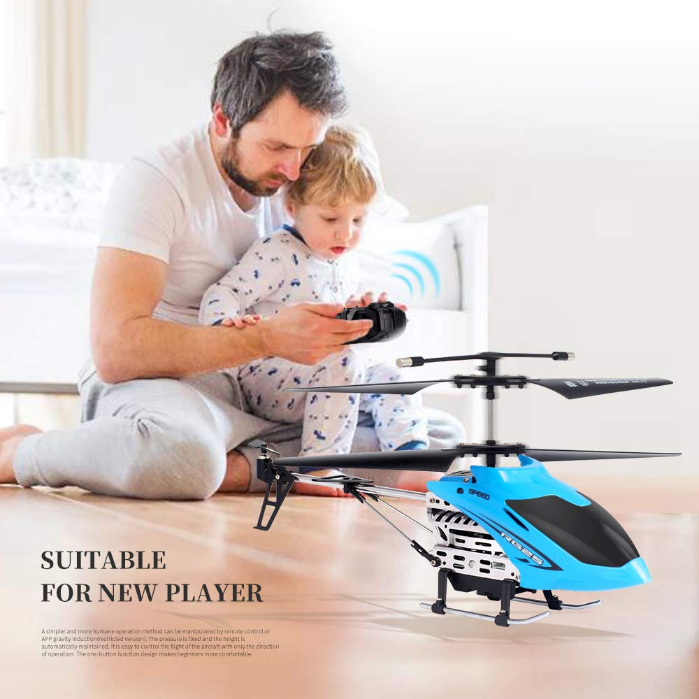 2.4GHZ Control Crash-Resistant Alloy Remote-Controlled Aircraft INSOA TOYS Helicopter with Remote Control Boys Teens Gift Remote Control Drone Electric Toy for Kids