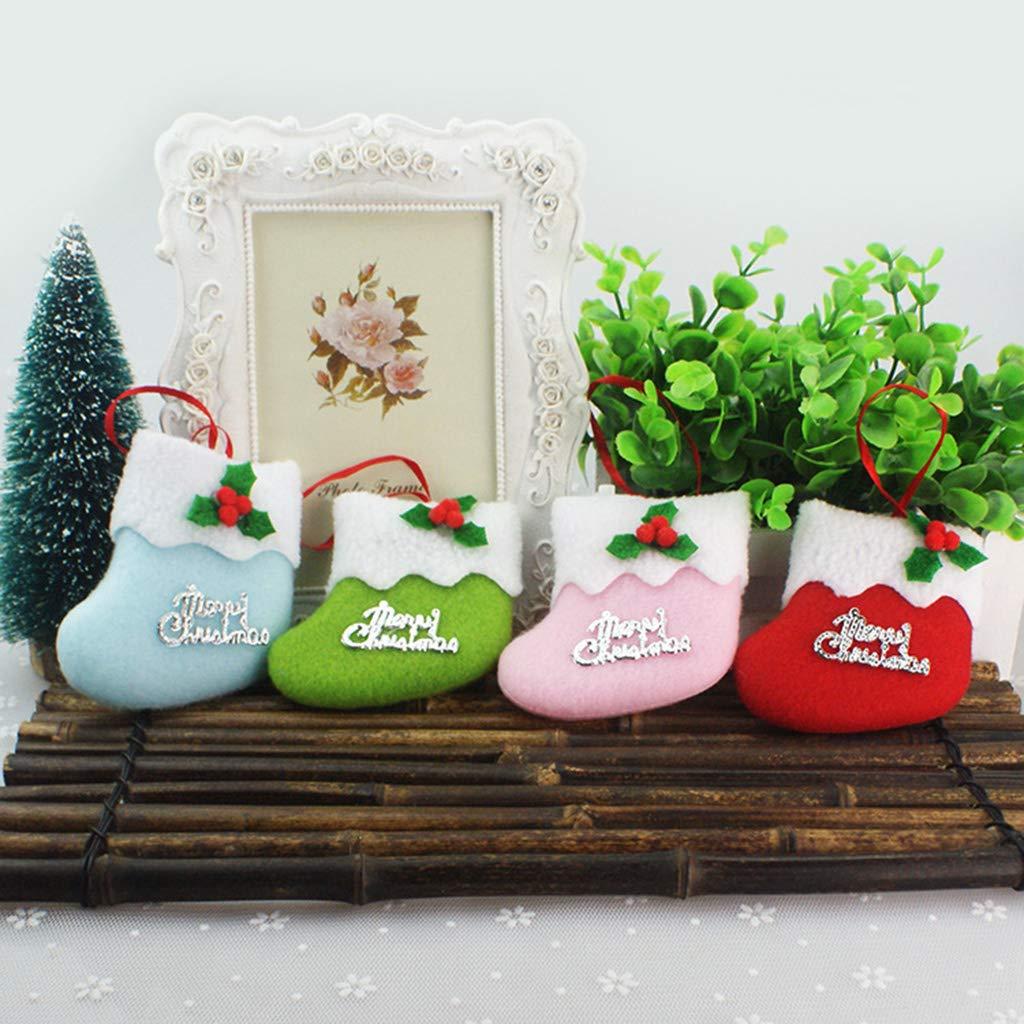 HBSHE 4X Weihnachtssocken-Verzierung-Festival-Partei-Weihnachtsbaum ...