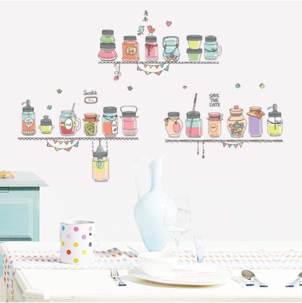 Botella de vidrio decorado dormitorio sala de estar adhesivo decorativo de pared