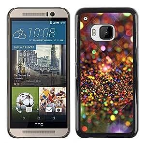 Caucho caso de Shell duro de la cubierta de accesorios de protección BY RAYDREAMMM - HTC One M9 - Universe Stars Pattern Luxurious
