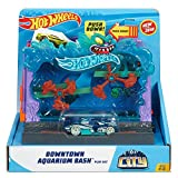 hot wheels bath - Hot Wheels City Downtown Aquarium Bashplay Set