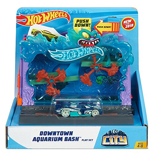 Hot Wheels City Downtown Aquarium Bashplay Set ()