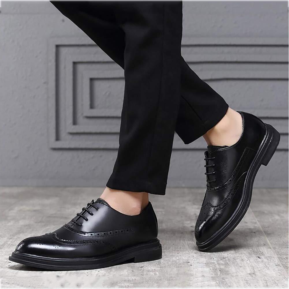 Yaxuan Business-Schuhe, Herrenschuhe, Frühlings Schuhe, Herren-Formale Business-Schuhe, Yaxuan Mode-Spitzen-Zehenschuhe, Hochzeits-Casual-Party,schwarz,40 - 4a974e