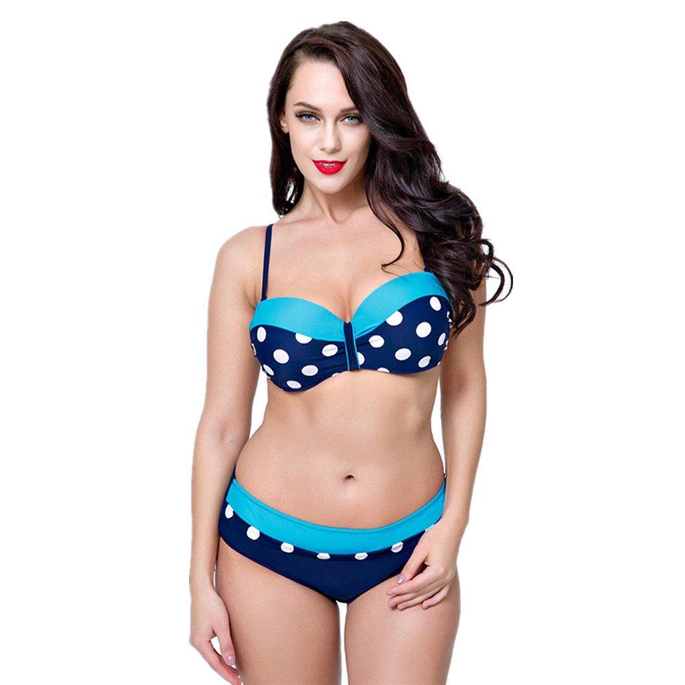 Ms. 水着 スポーツ水着 ビキニ水着 水着 スリーポイント水着 に適して 水泳 ウェディング エクササイズ スパ (Color : Blue, Size : 48) B07DYQJNYK 48|Blue