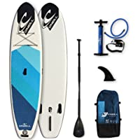 """O'Neill Paddle Board - Santa Fade 10ft 2"""" Inflatable Stand Up Paddle Boards Kit Inc Sup Paddle - Sup Pump - Sup Fin - Sup Leash - Backpack"""
