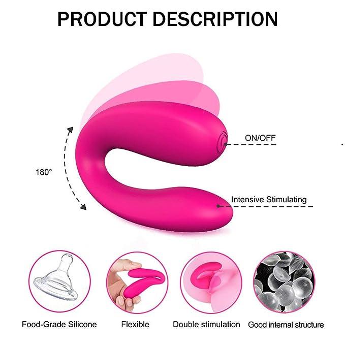 POLP Vibradores para Mujer Punto g U Tipo Vibrador de Punto G Dildo Vibrador de Doble Motor Vibración Juguetes Sexuales Masaje 1PC: Amazon.es: Ropa y ...
