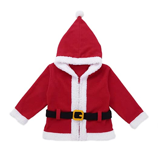 Amazon.com: FEESHOW Unisex Baby Boys Girls Santa/Elf Christmas Outfit Costume Winter Hoodie Jacket Coat Hooded Tops: Clothing